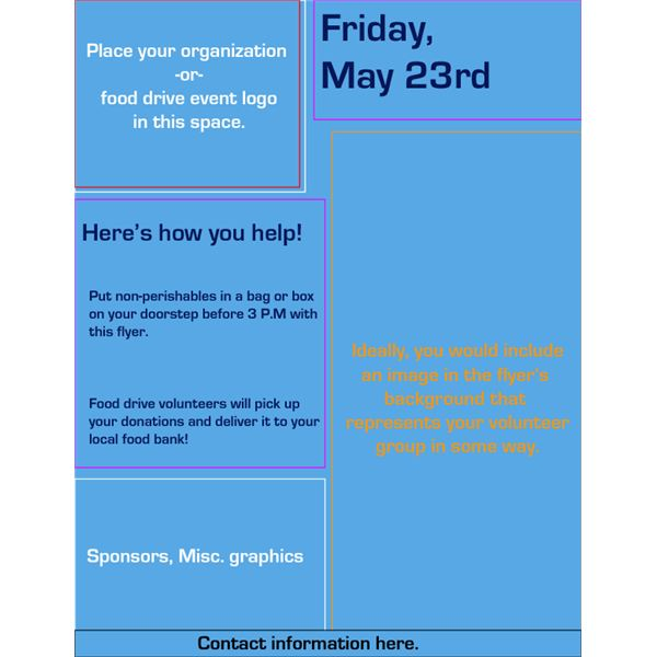quality food drive flyer templates