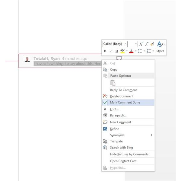 Adding Comments and Tracking Changes in MS Word 2013: Tools for Editors and Document Approvers