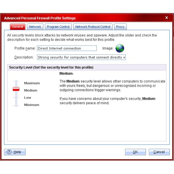 Figure 2 - Trend Micro Internet Security Pro 2010 - Personal Firewall