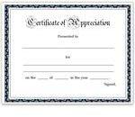 Simple Teacher Appreciation Certificate for Word