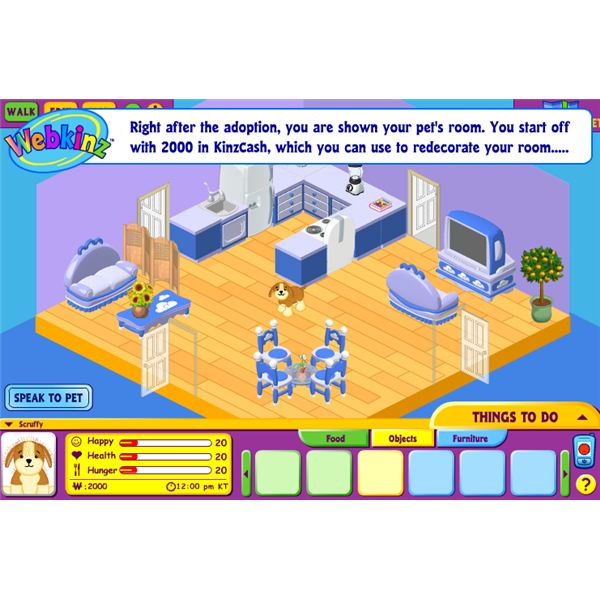 Webkinz Interface