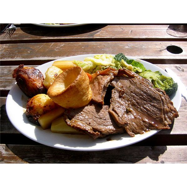 Sunday roast beef at a picnic.