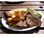 Sunday roast beef at a picnic.