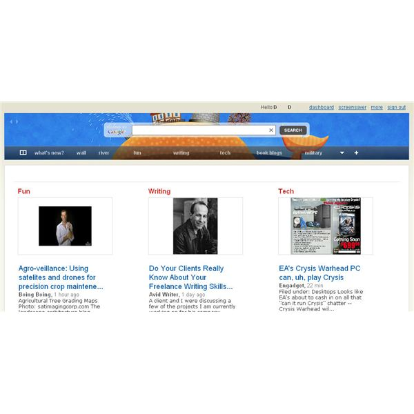 Feedly Home Page/Cover