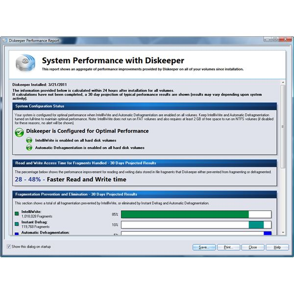 Diskeeper 2011: Performance Report