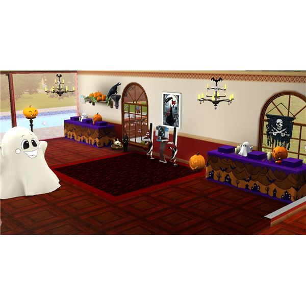 The Sims 3 Halloween Party Decorations