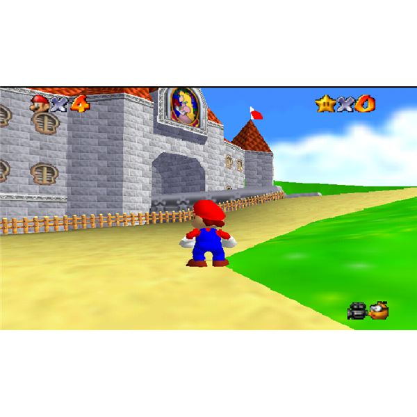 Mario 64 in the Project 64 Emulator