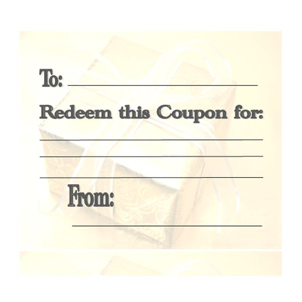 personalized coupon book template - make your own customizable coupon book free printables