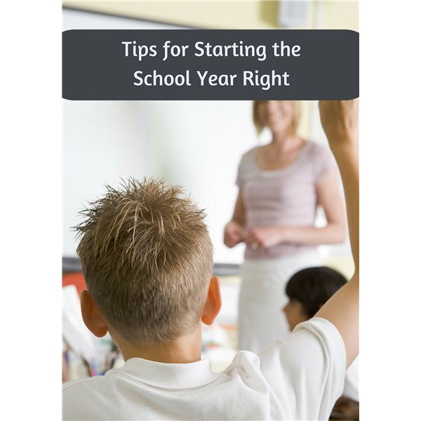 New School Year Tips for Parents: How to Help Your Child Start on the Right Foot