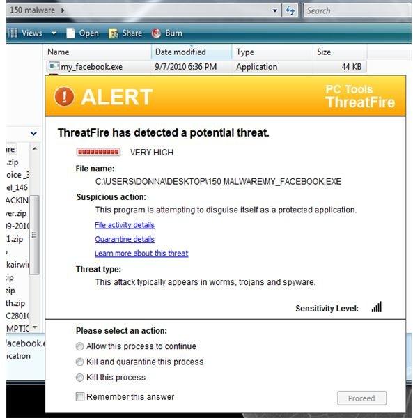 IRC Bot Blocked by ThreatFire