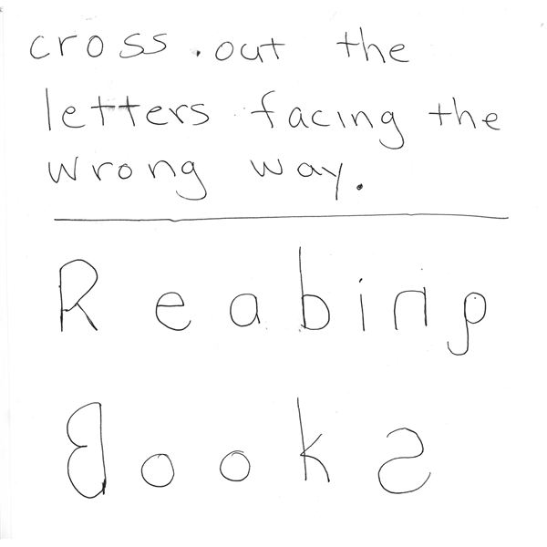 Cross out reversed letters