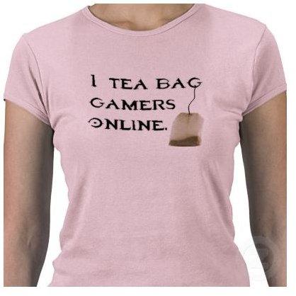 I Tea Bag Gamers Online T-shirt