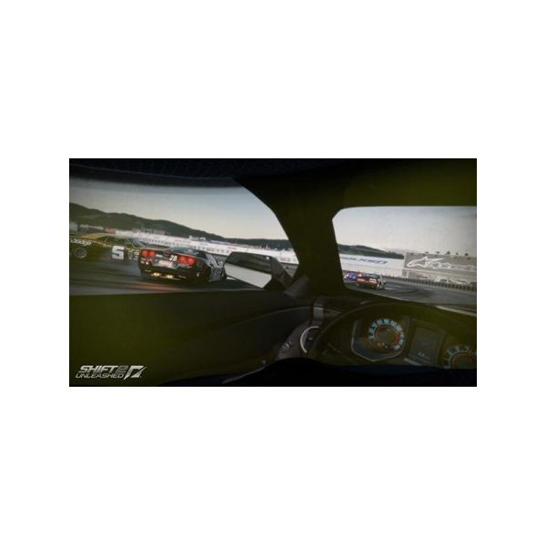 The in-car cam gives you a realistic view of the action.