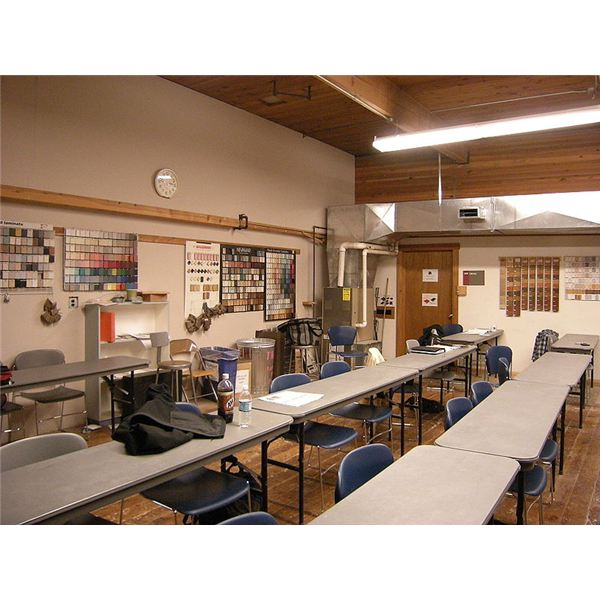 """Classroom, Seattle Central Community College Wood Construction Facility"" by Joe Mabel/Wikimedia Commons via GNU Free Documentation License, Version 1.2"