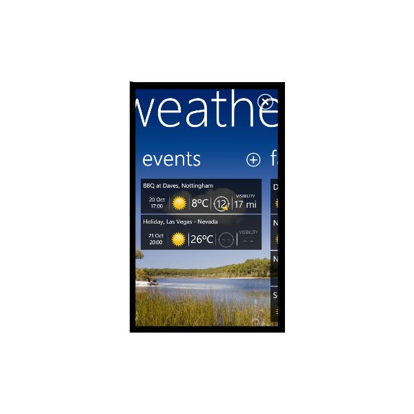Your Weather Windows Phone 7 Weather App