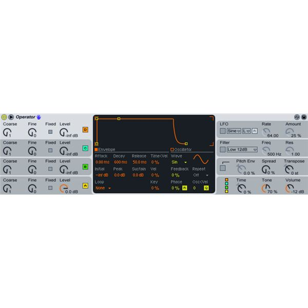 Ableton Live Operator Presets