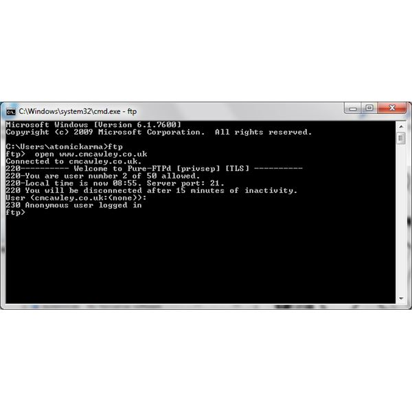 Security Tricks Using DOS: FTP User Password Change