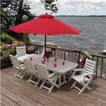 PolyWood Recycled Signature Patio Dining Set Seats 8 Plastic