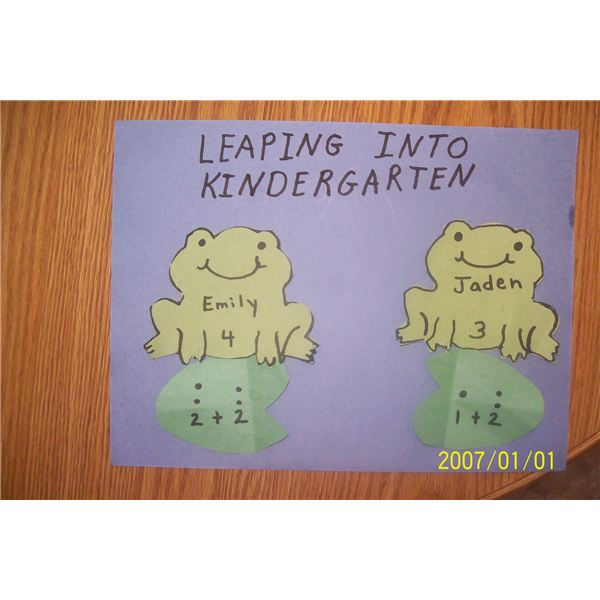 Leaping Into Kindergarten Bulletin 001