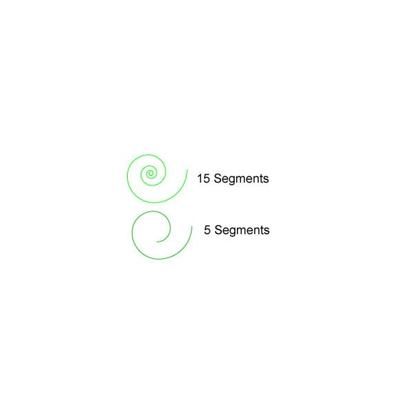 How to Use Your Spiral Tool in Adobe Illustrator - difference in points