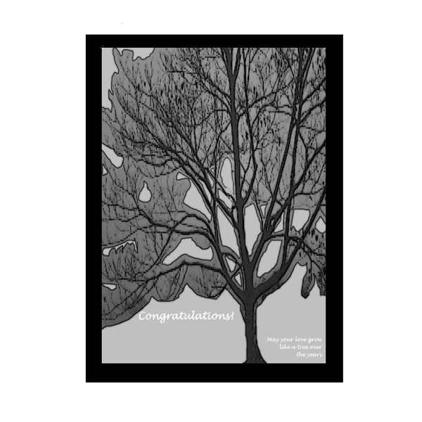 Print this love tree on canvas or poster paper and have guests sign the border