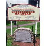 Underground Railroad Station Marker in Paterson New Jersey