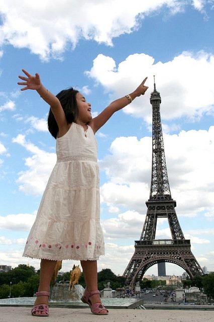 Touching the Eiffel Tower