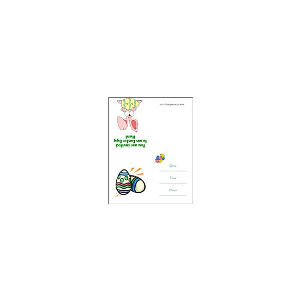Easter egg party invitation template