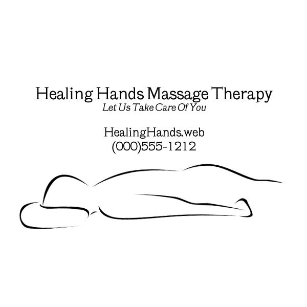 Customizable Massage Therapist Business Card