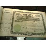 Cadillac Stock Certificate