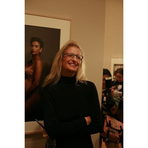 Annie Leibovitz at One of Her Exhibitions
