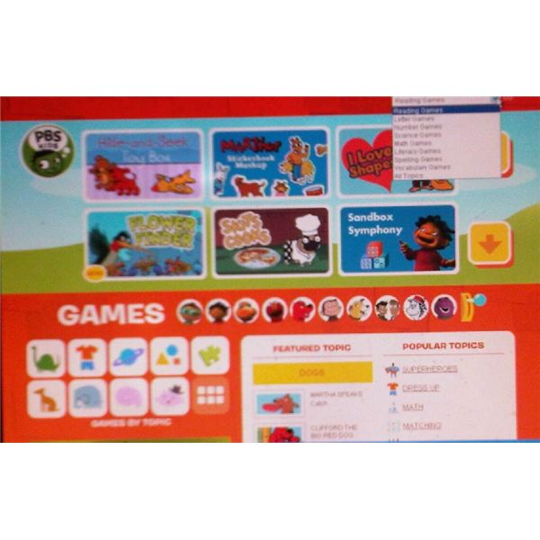 PBS Kids Game page