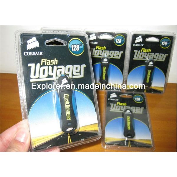 faked Corsair flash Voyager 128GB USB drive- high quality packaging- have not announced they have this size yet