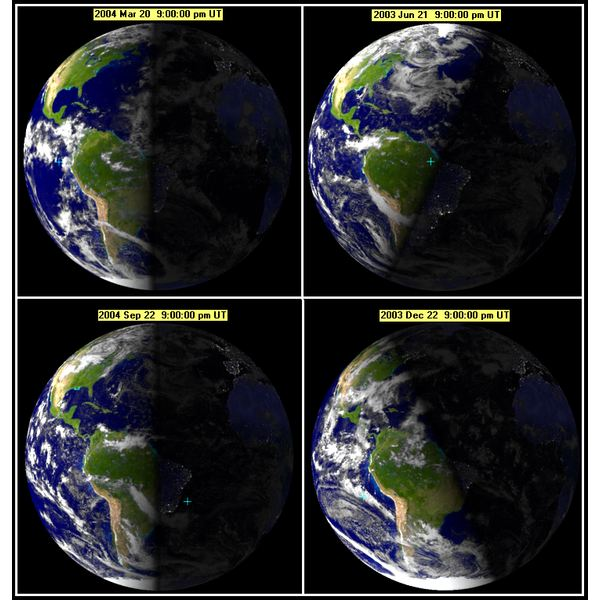 How Axial Tilt Affects Sunlight in Different Seasons
