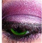 Macro green eye with purple m.a.c. and ben nye eyeshadow