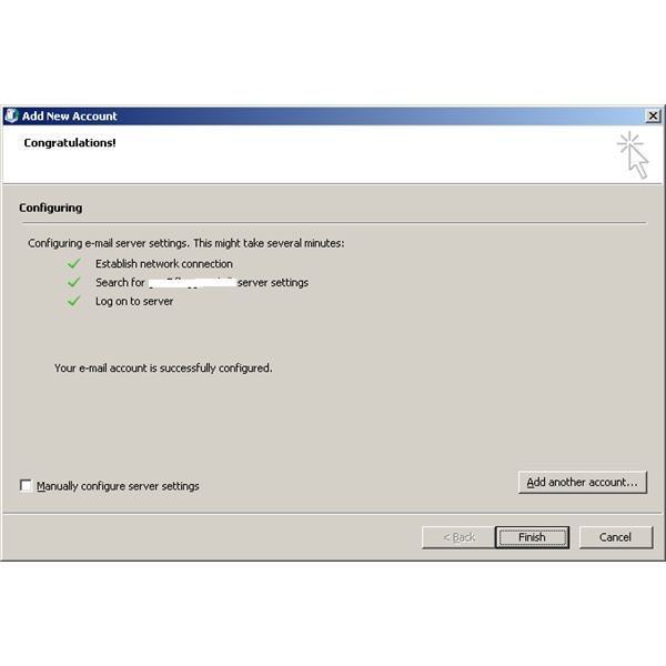 Outlook 2010 Configuration for Exchange 2010
