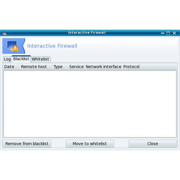 Mandriva Linux's Interactive Firewall window.