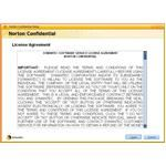 Accept the Norton Confidential license agreement