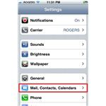 iPhone Mail,Contacts,Calendars