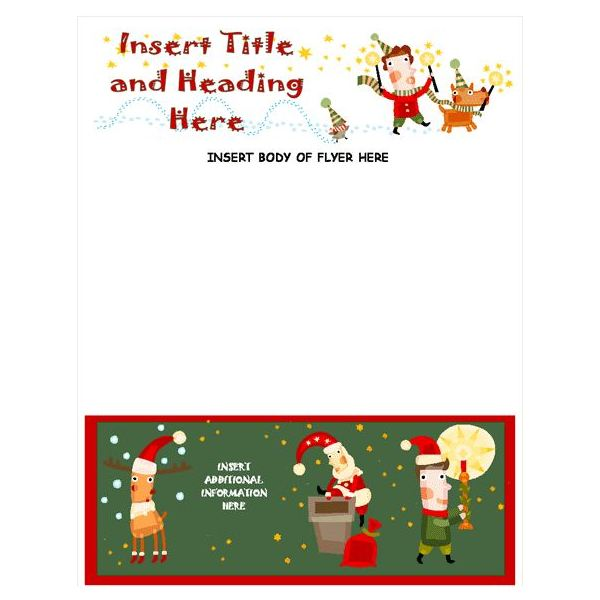 christmas stationery template word