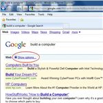Google Show Options Link