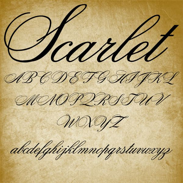 Example Of Scarlet A Classic Formal Script Typefaces That Mimic The Cursive