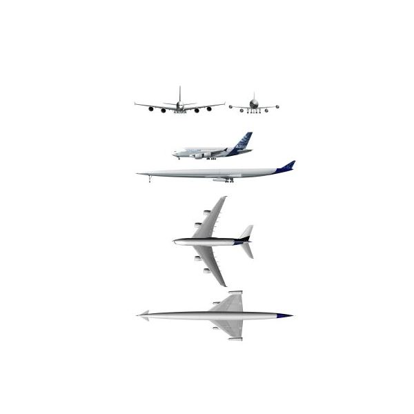 The A2 proposed design compared to an Airbus A380