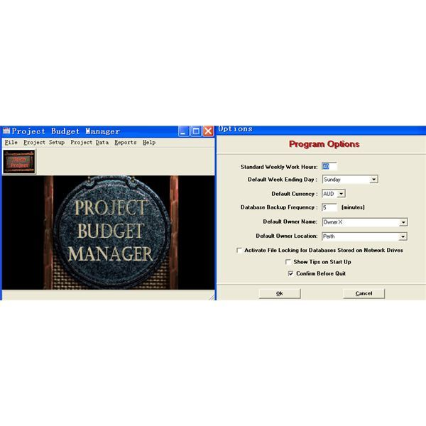 Project Budget Manager Software Screenshot.bmp