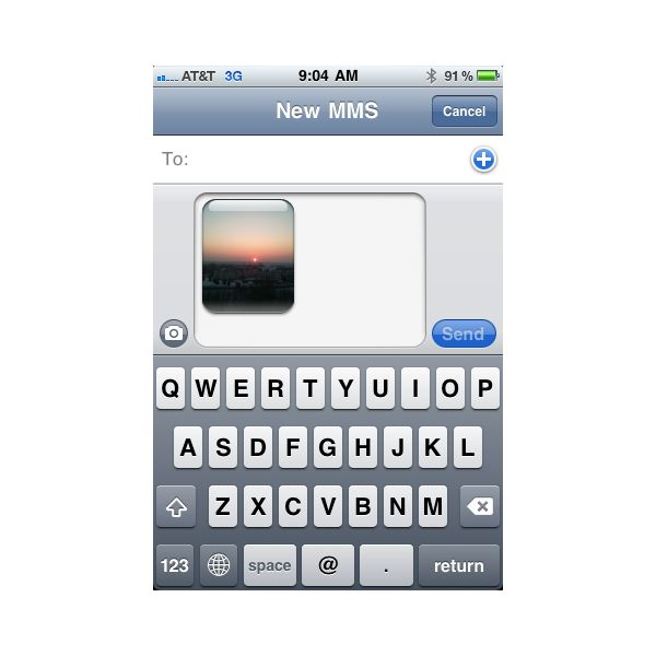 Send Picture Text on iPhone