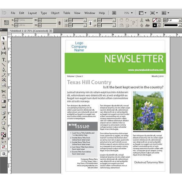 Learn about designing web pages in indesign should you for Dreamweaver newsletter templates