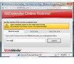 Scan result using BitDefender Online Scanner