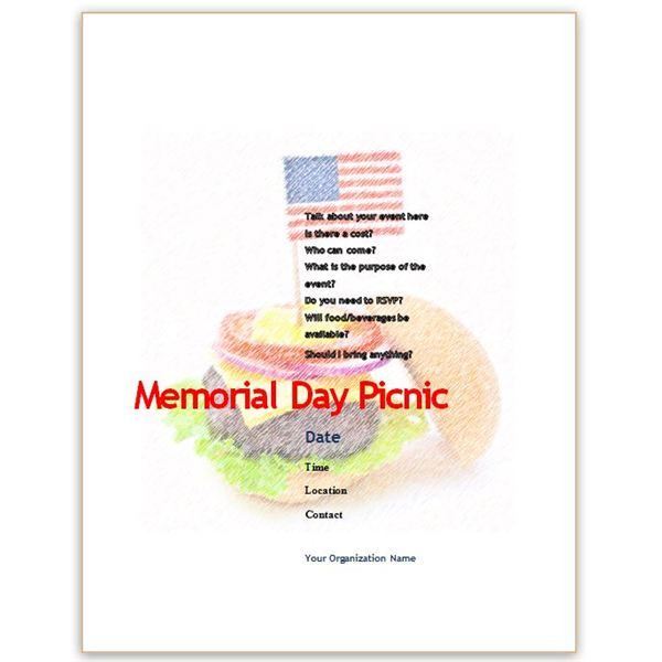 Patriotic Picnic Flyer