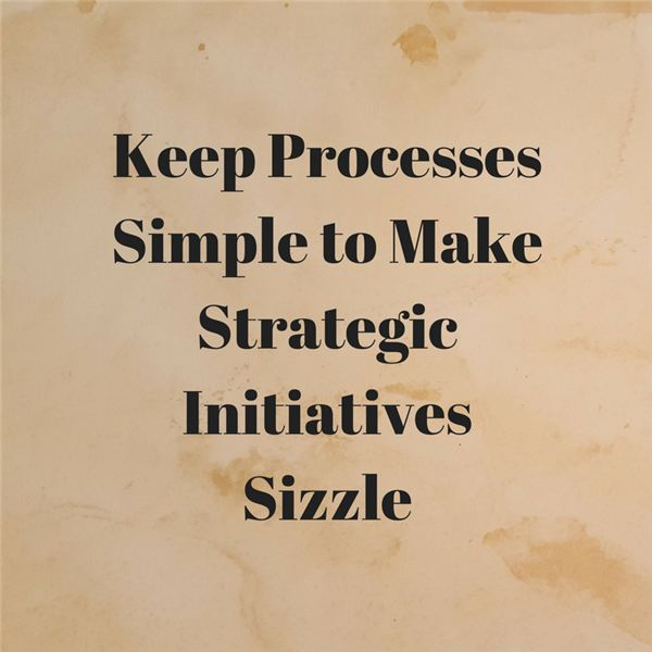 Keep Processes Simple to Make Strategic Initiatives Sizzle