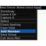 Blackberry Contact group member